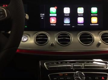 Система CarPlay на Mercedes E-class W213
