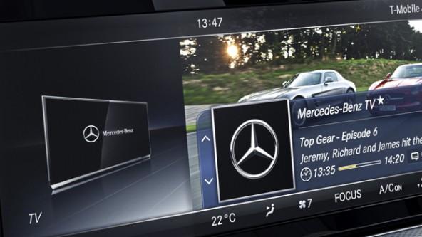 ТВ-тюнер на Mercedes. Просмотр телепередач в авто