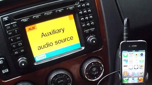 Активация функции AUX в Mercedes-Benz