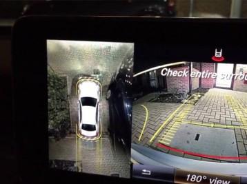 Пример работы камеры Mercedes кругового обзора 360°