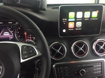 Система CarPlay на Mercedes A-class W176