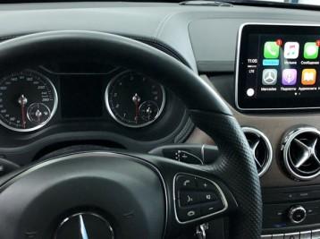 Система CarPlay на Mercedes B-class W246