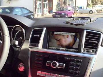 Видео в движении Mercedes-Benz M-Class (W166)