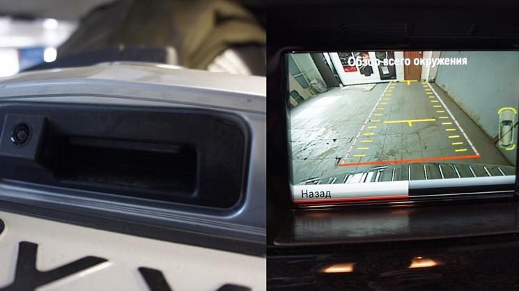 Мерседес С класса W205 по желанию спокойно дооснащается камерой заднего вида