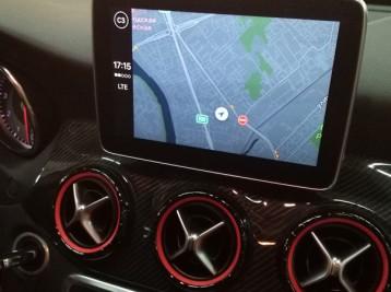 Навигация CarPlay с обозначением пробок