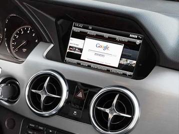 Установка Comand в Mercedes GLK X204
