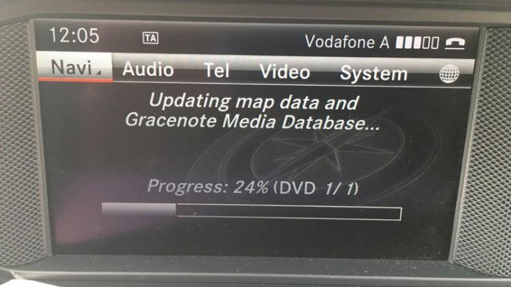Навигация Mercedes для Европы