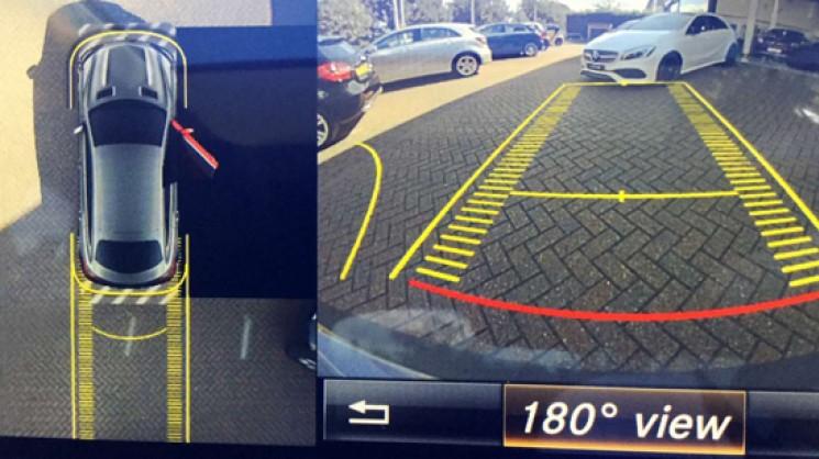 Парковочные линии на примере работы камеры Mercedes GLE coupe