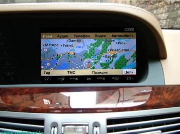 Современная GPS навигация с картами